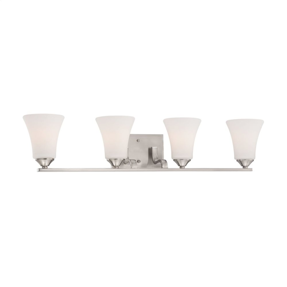 Treme 4-Light Wall Lamp in Brushed Nickel