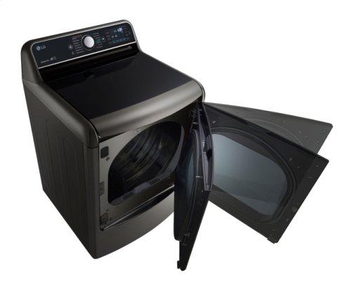 9.0 Cu. Ft. Mega Capacity TurboSteam Gas Dryer With EasyLoad Door
