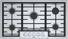 """800 Series 36"""" 5 Burner Gas Cooktop, NGM8656UC, Stainless Steel"""