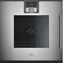 "200 Series Single Oven Full Glass Door In Gaggenau Metallic Width 24"" (60 Cm) Left-hinged"