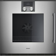 "200 series 200 series single oven Full glass door in Gaggenau Metallic Width 24"" (60 cm) Left-hinged"