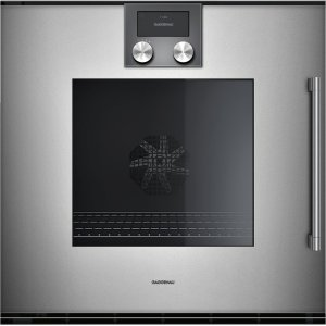 "Gaggenau200 series 200 series single oven Glass front in Gaggenau Metallic Width 24"" (60 cm) left-hinged"