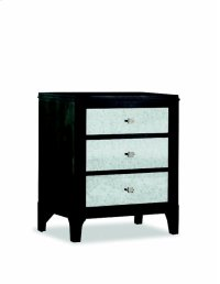 Night Stand W/Mirror Dwr Fronts Product Image