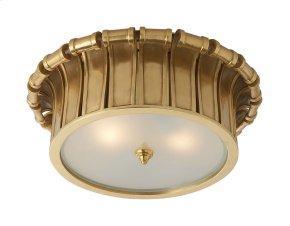 Visual Comfort AH4010NB-FG Alexa Hampton Vivien 2 Light 13 inch Natural Brass Flush Mount Ceiling Light