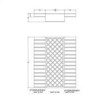 Apex 6' Pine Wine Rack Kit (VT-DISPLAYSHELF LATTICE VT-DISPLAYSHELF) - READY TO SHIP