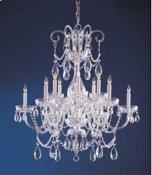 Traditional Crystal 12 Light Swarovski Strass Crystal ChromeChandelier