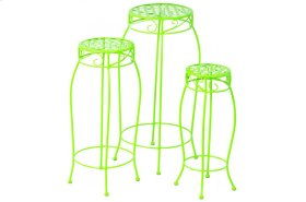Martini Accents Round Plant Stands - Key Lime