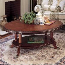 OVAL COFFEE TABLE