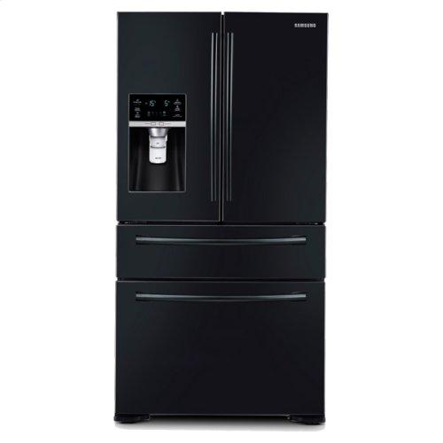"36"" Wide, 30 cu. ft. 4-Door Refrigerator with FlexZone Drawer (Black)"