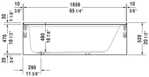 "White Architec Bathtub With Panel Height 19 1/4"""