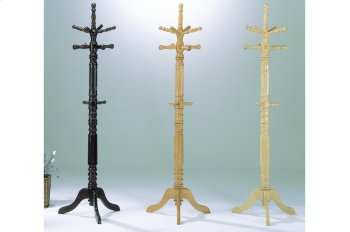 Oak Finish Hall Tree and Umbrella Rack Product Image