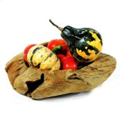 Weathered Wood Fruit Bowl Medium