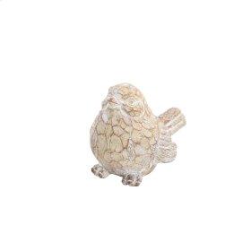 "Resin Bird Decor, 6"", Brown/ivory"
