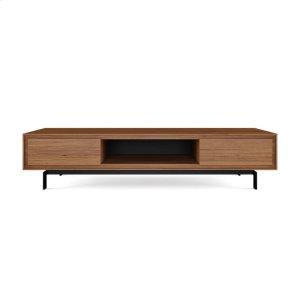 Bdi FurnitureLow Triple Width Cabinet 8323 in Natural Walnut