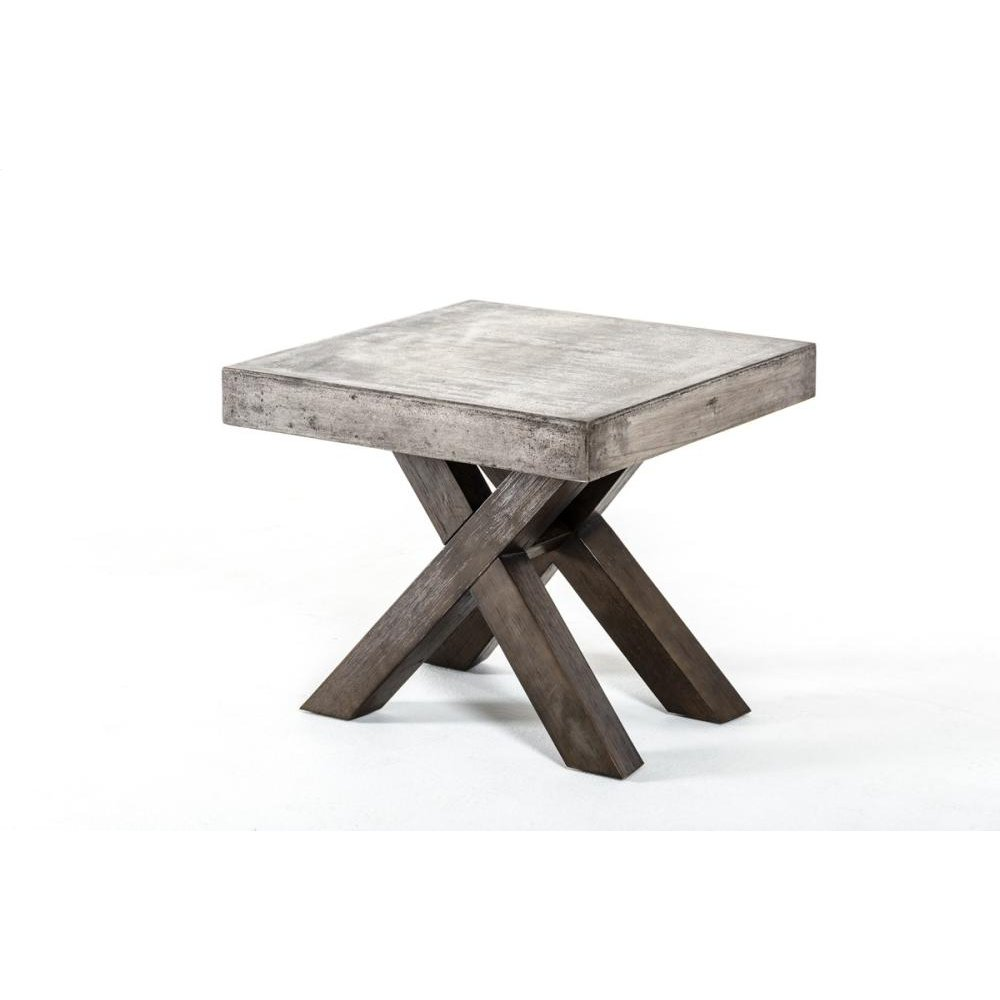 Modrest Urban Concrete Square End Table