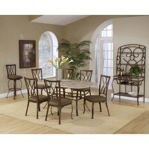 Hillsdale FurnitureBrookside 7pc Rectangle Set W/ Diamond Chairs