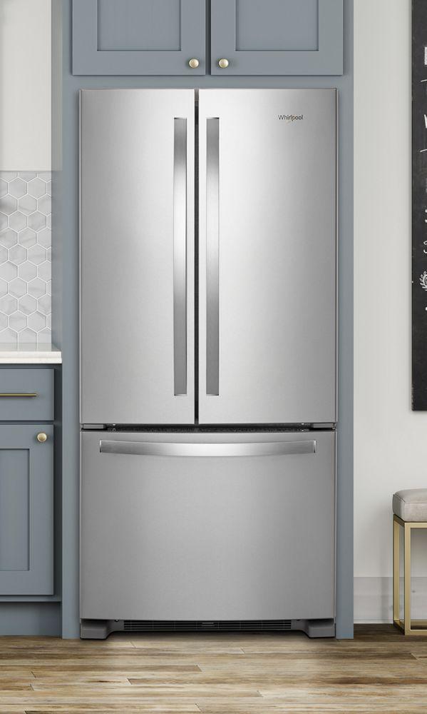 Wrf532smhzwhirlpool 33 Inch Wide French Door Refrigerator 22 Cu