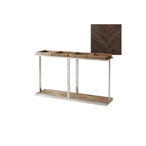 Six Console Table, Dark Echo Oak