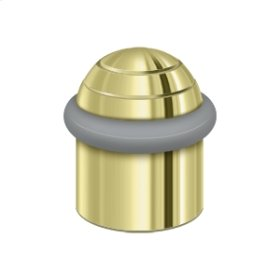 """Round Universal Floor Bumper Dome Cap 1-1/2"""", Solid Brass - Polished Brass"""