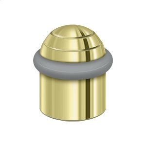 "Round Universal Floor Bumper Dome Cap 1-1/2"", Solid Brass - Polished Brass"