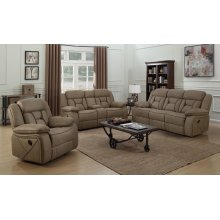 Houston Casual Tan Glider Recliner