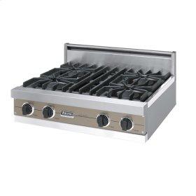 "Stone Gray 30"" Open Burner Rangetop - VGRT (30"" wide, four burners)"