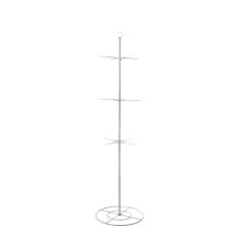 White 72 3 Tier/12 Arm Varied Heights Rotational Floor Display.