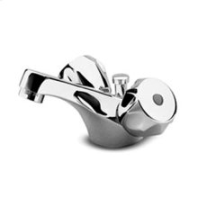"""Single hole basin mixer with aerator 1 1/4"""" pop-up waste flexible pipes."""