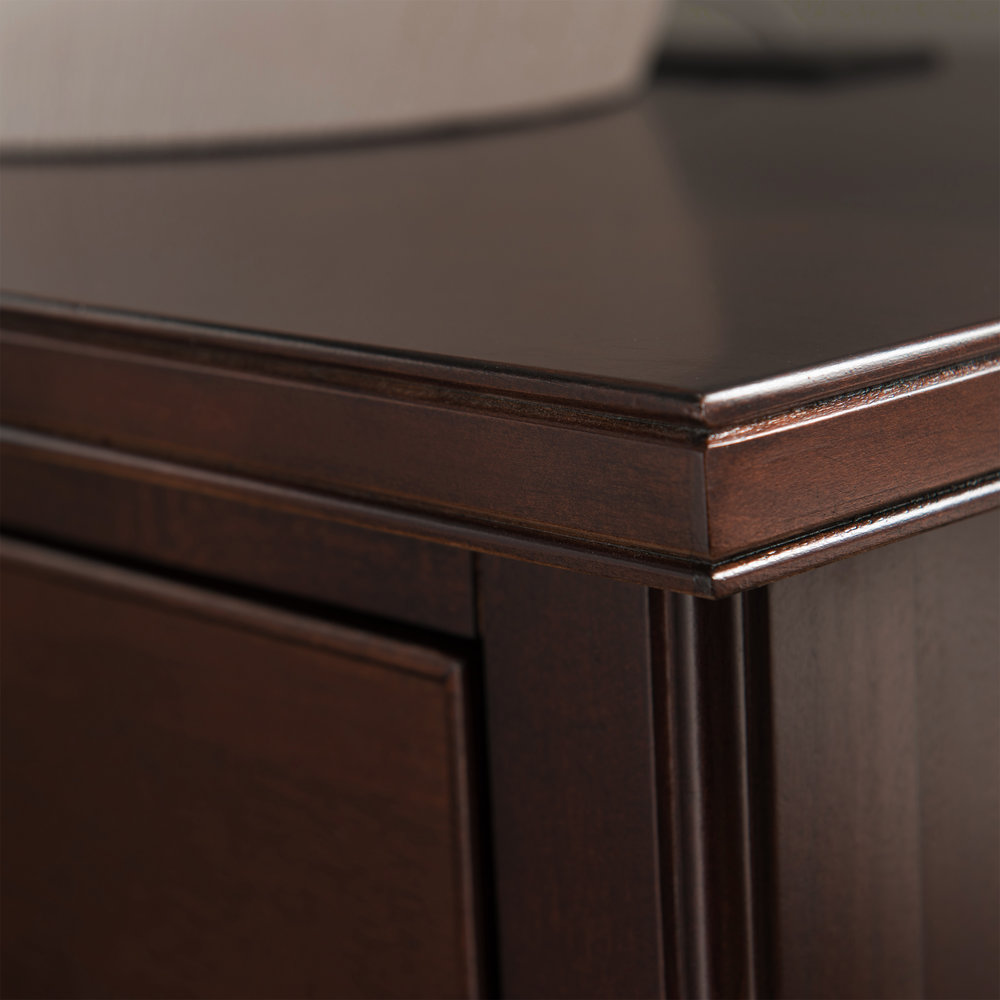 Night Stand With Top Drawer, Door And 2 Plug Electrical Outlet, USB Charging