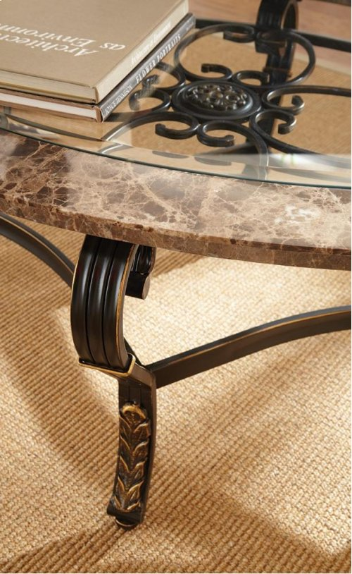 """Gallinari Cocktail Table 50""""x34""""x21"""" 5mm TEMPERED GLAS"""