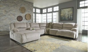 LAF Chaise Reclining Sectional with Console