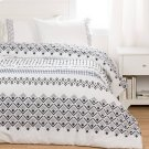 Printed Comforter with pillow shams - White Product Image