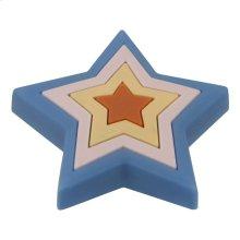 Kids Blue Star Cabinet Knob