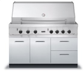 """53"""" W x 30"""" D Grill Base - VQBO (53"""" with - Grill Base with 2 Drawers; 1 Door)"""