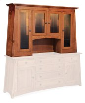 McCoy Deluxe Open Hutch Top, Extra Large, Antique Glass