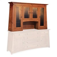 "McCoy Deluxe Open Hutch Top, 72"", Antique Glass Product Image"
