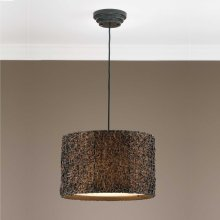 Knotted Rattan, 3 Lt. Pendant