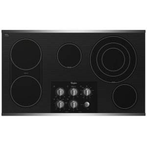 "WHIRLPOOLGold(R) 36-inch Electric Ceramic Glass Cooktop with 8"" Bridge Element"