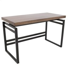 Drift Desk - Black Metal, Walnut Wood