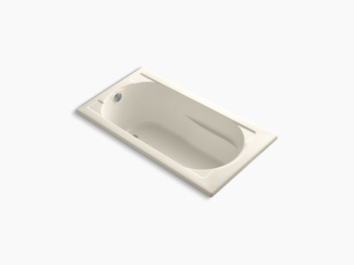 """Almond 60"""" X 32"""" Drop-in Bath With Bask Heated Surface and Reversible Drain"""