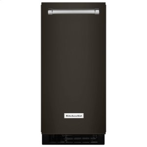 KitchenAidKitchenAid® 15'' Automatic Ice Maker with PrintShield Finish - Black Stainless Steel with PrintShield™ Finish