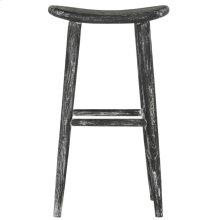 Colton Wood Bar Stool - Black / White Washed