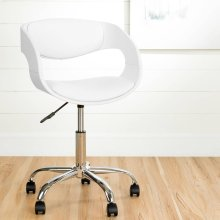Adjustable Office Chair - White