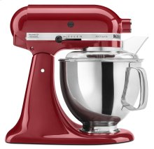 Exclusive Artisan® Series 5 Quart Tilt-Head Stand Mixer + 5 Quart Patterned Ceramic Bowl Bundle - Empire Red
