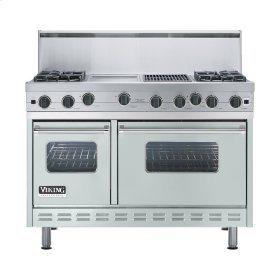 "Sea Glass 48"" Open Burner Range - VGIC (48"" wide, four burners 12"" wide griddle/simmer plate 12"" wide char-grill)"