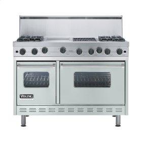 "Sea Glass 48"" Open Burner Range - VGIC (48"" wide, four burners 12"" wide griddle/simmer plate 12"" wide char-grill)"