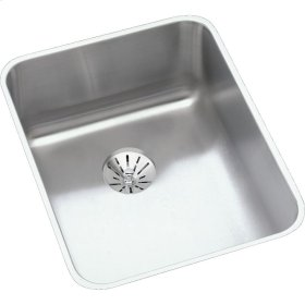 "Elkay Lustertone Classic Stainless Steel 16-1/2"" x 20-1/2"" x 7-7/8"", Single Bowl Undermount Sink with Perfect Drain"