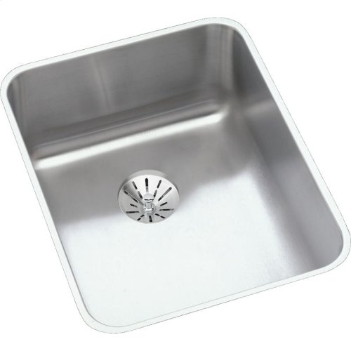"""Elkay Lustertone Classic Stainless Steel 16-1/2"""" x 20-1/2"""" x 9-7/8"""", Single Bowl Undermount Sink with Perfect Drain"""