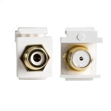 RCA-F Keystone Inserts - White