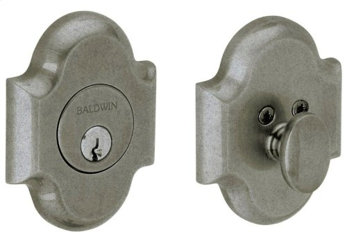 Distressed Antique Nickel Arched Deadbolt